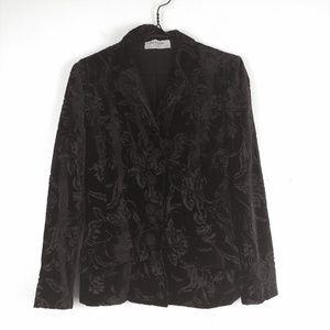 Vintage Yves Saint Laurent Velvet Floral Jacket 38